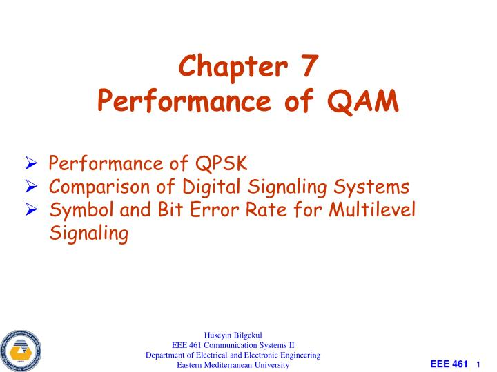 PPT - Chapter 7 Performance of QAM PowerPoint Presentation