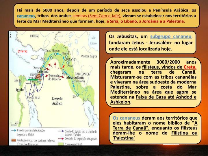 Há mais de 5000 anos, depois de um período de seca assolou a Península Arábica, os