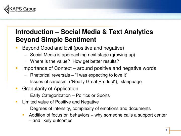 Introduction – Social Media & Text Analytics