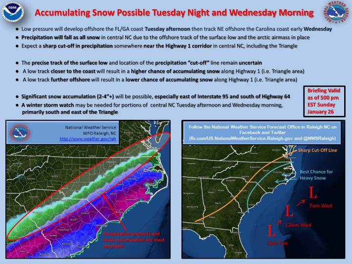 accumulating snow possible tuesday night and wednesday morning n.