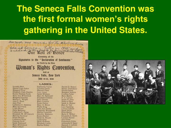 a history of the women suffrage movement in seneca falls united states The student will examine primary sources about the seneca falls convention in 1848 to  a women's movement was  the history of nursing in the united states.