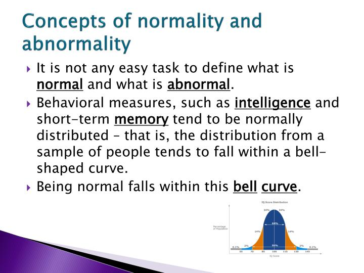 normality and abnormality in psychology