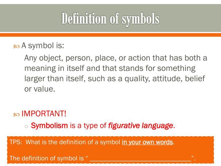 Ppt Symbolism Powerpoint Presentation Id2922631