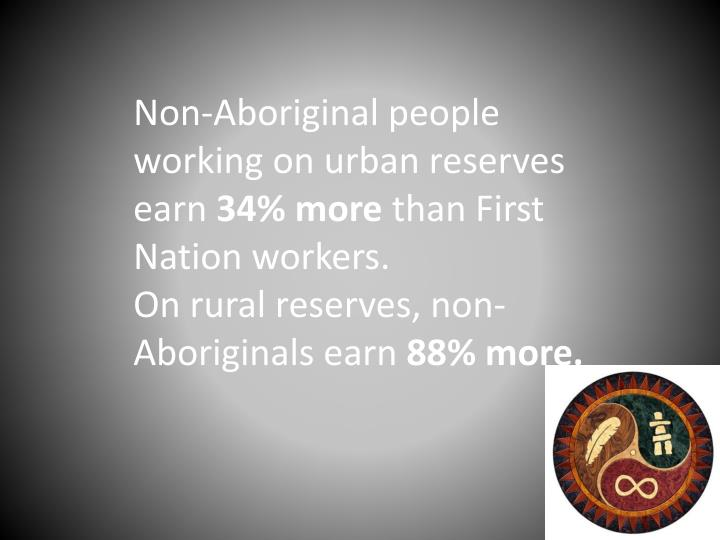 Non-Aboriginal people working on urban reserves earn