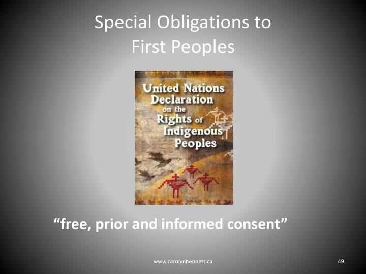 Special Obligations to