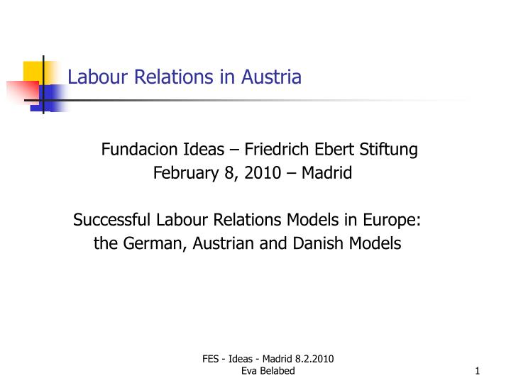 labour relations in austria n.