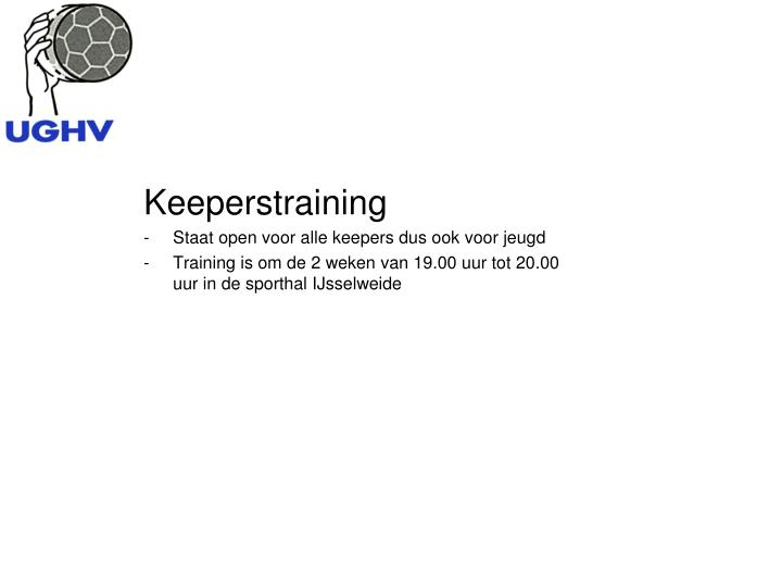Keeperstraining