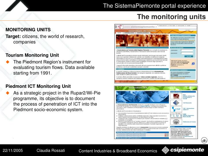 The monitoring units