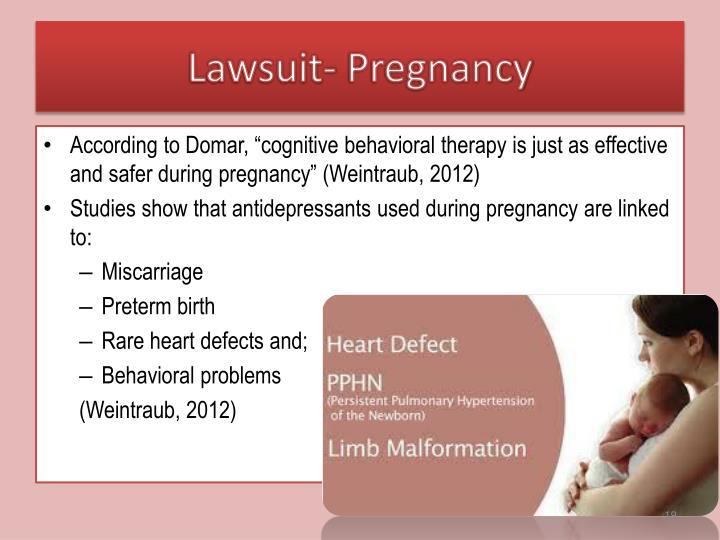 Lawsuit- Pregnancy