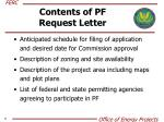 contents of pf request letter
