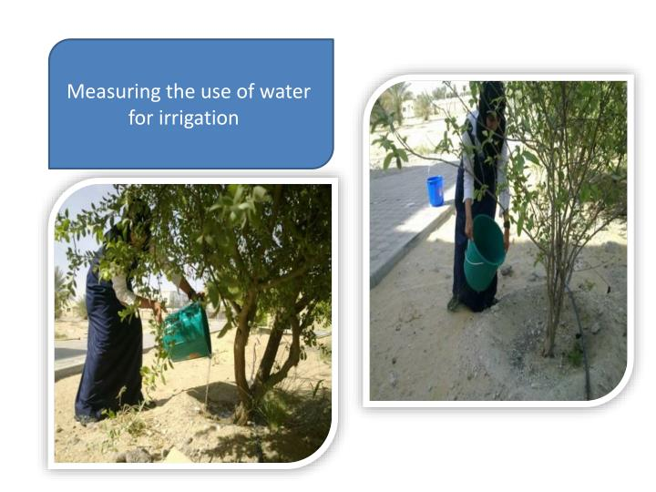 Measuring the use of water for irrigation
