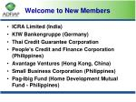 welcome to new members