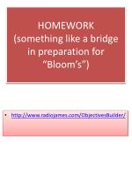 homework something like a bridge in preparation for bloom s