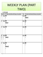 weekly plan part two