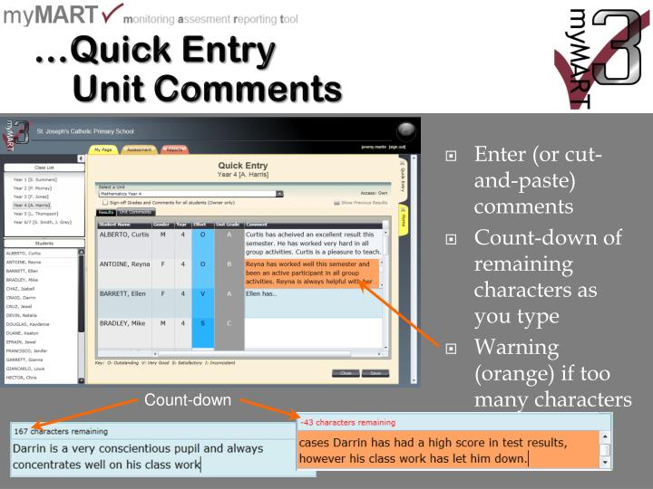 …Quick Entry