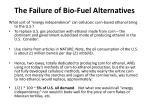 the failure of bio fuel alternatives