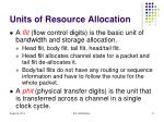 units of resource allocation2