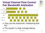 virtual channel flow control fair bandwidth arbitration