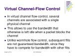 virtual channel flow control