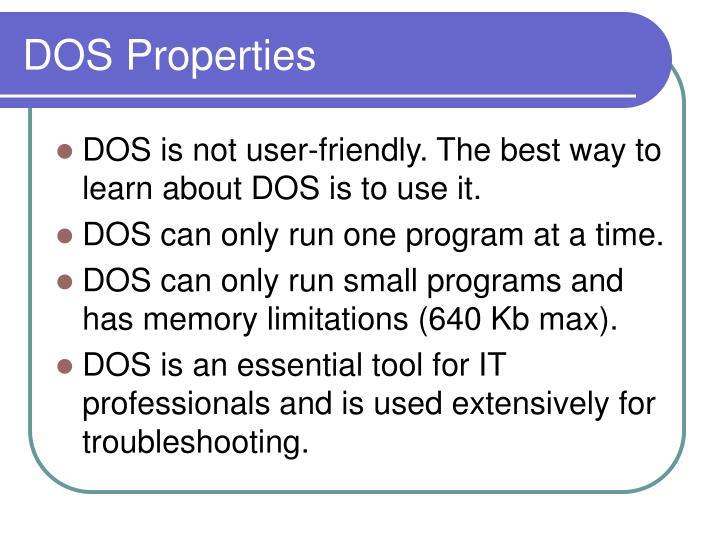 DOS Properties