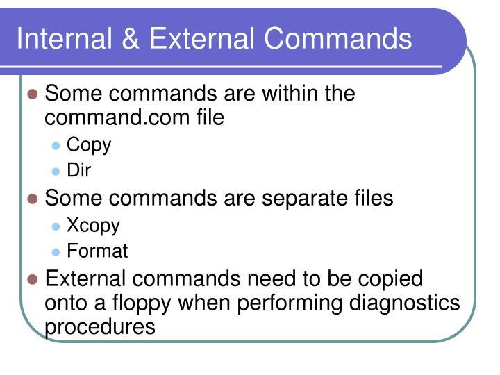Internal & External Commands