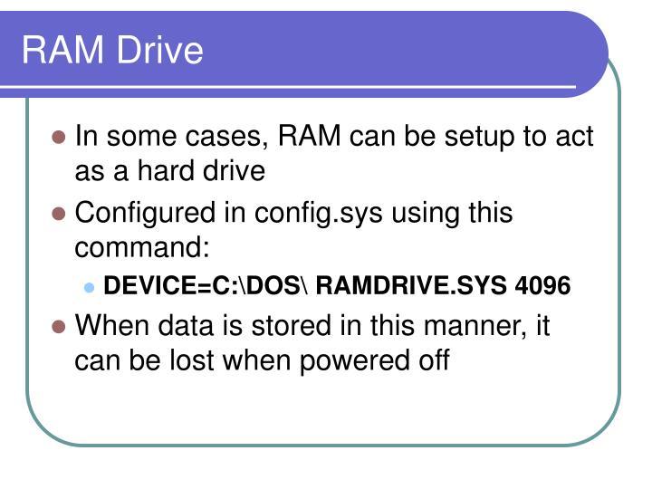 RAM Drive