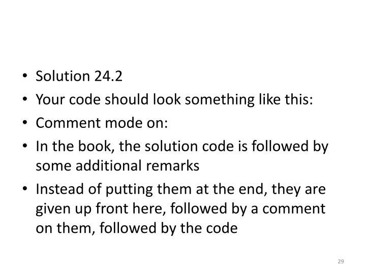 Solution 24.2