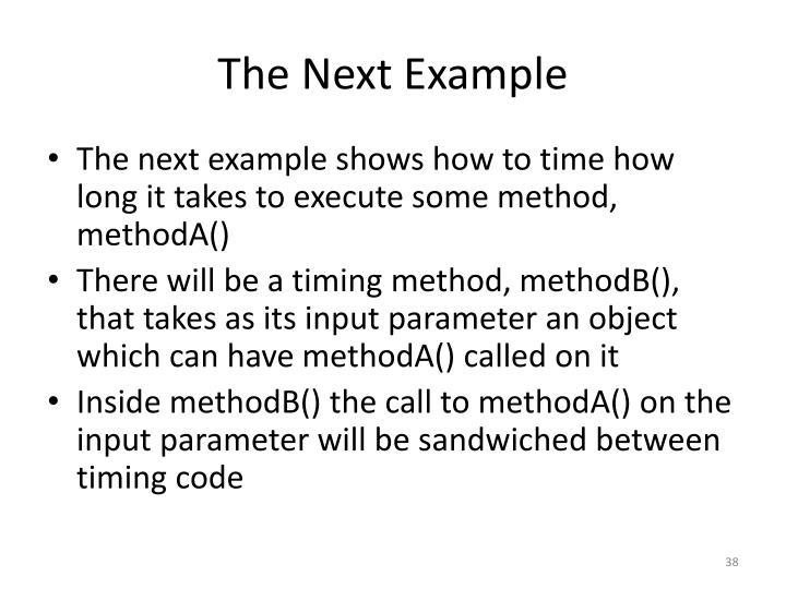 The Next Example