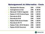 quinsigamond jct alternative costs