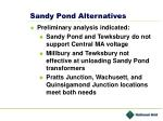 sandy pond alternatives