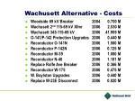 wachusett alternative costs