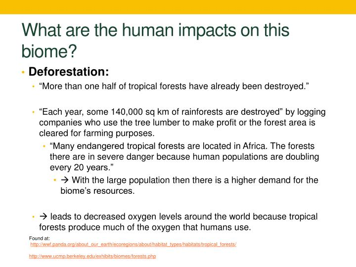 What are the human impacts on this biome?