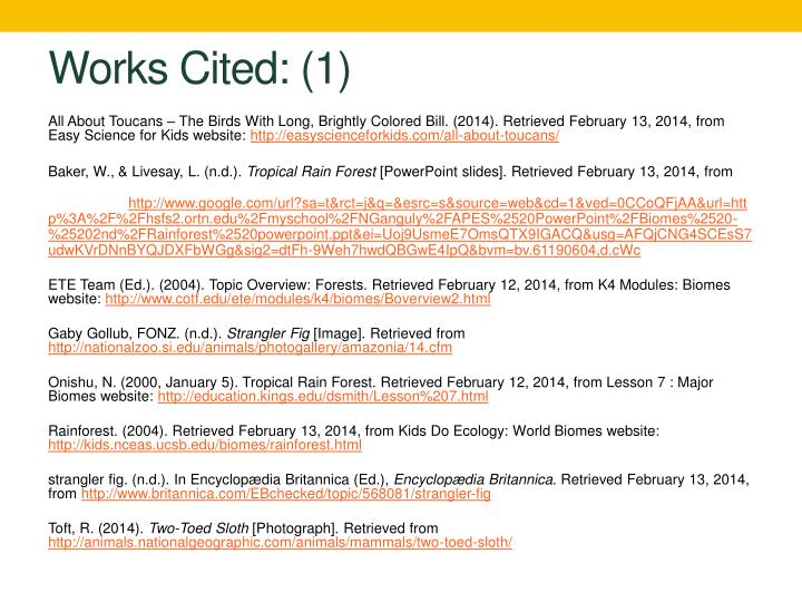 Works Cited: (1)