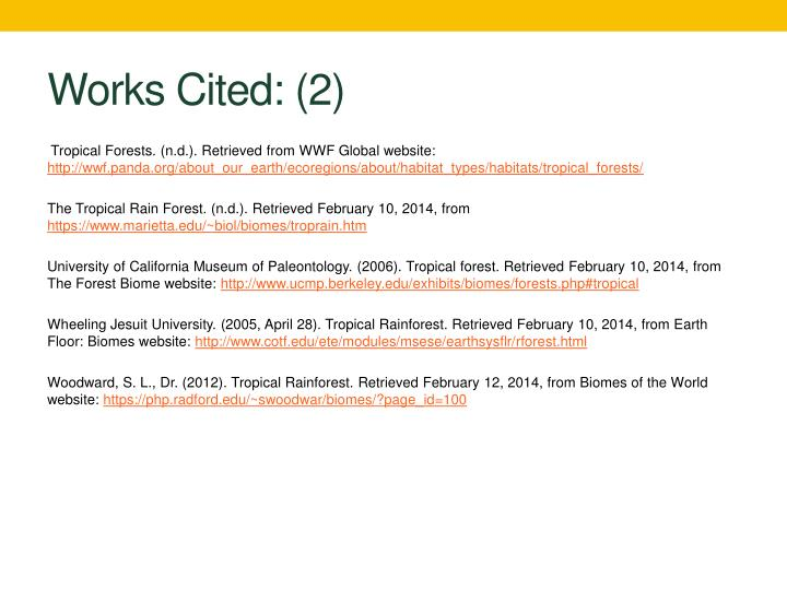Works Cited: (2)