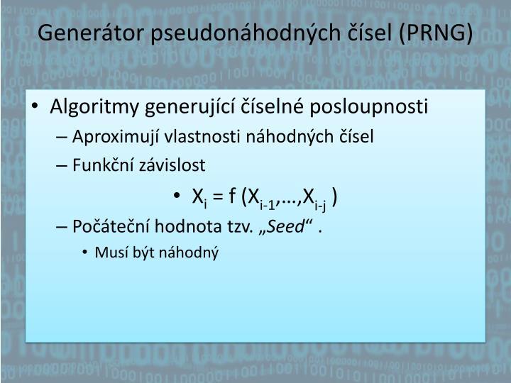 Generátor pseudonáhodných čísel