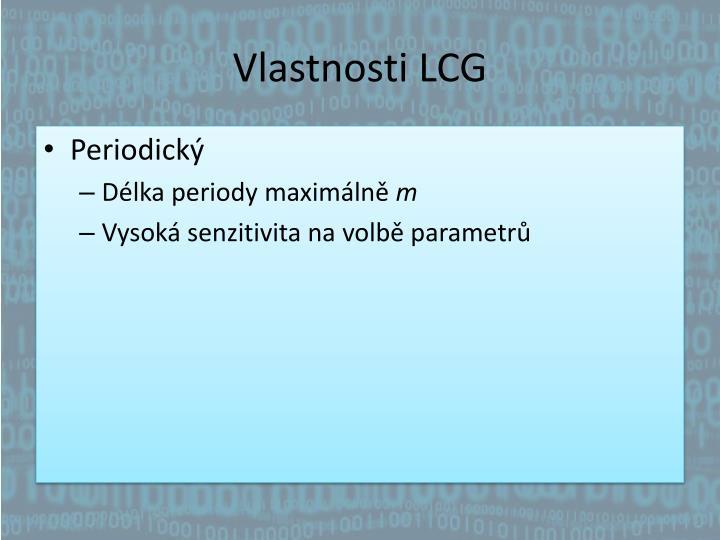 Vlastnosti LCG