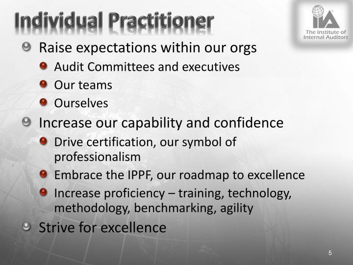 Individual Practitioner