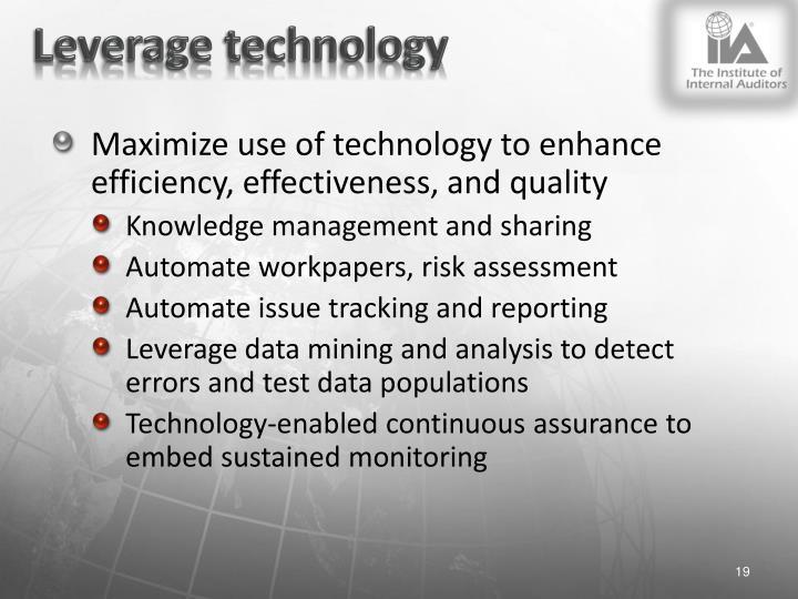 Leverage technology