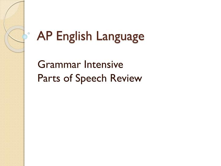 Ap english language