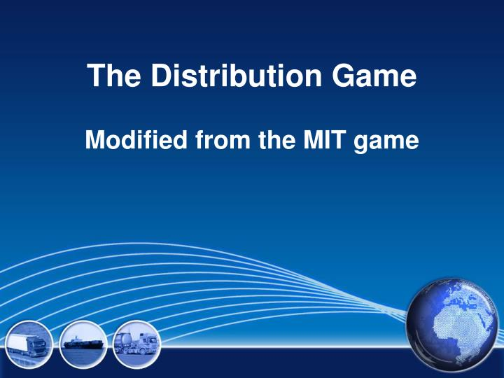 the distribution game n.