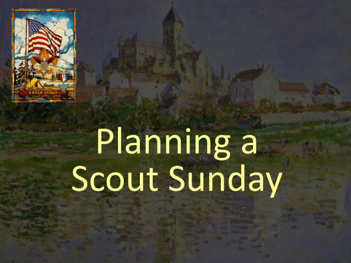 planning a scout sunday
