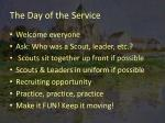 the day of the service