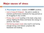 major causes of stress1