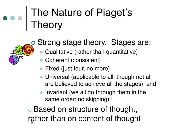 The Nature of Piaget's Theory