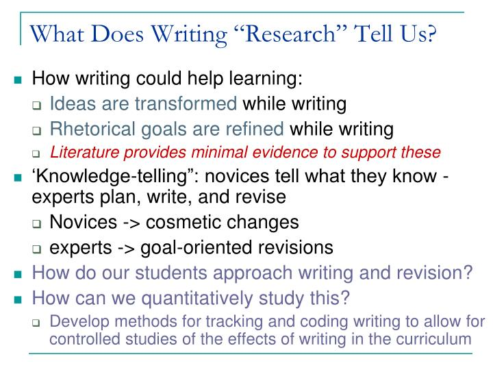 "What Does Writing ""Research"" Tell Us?"