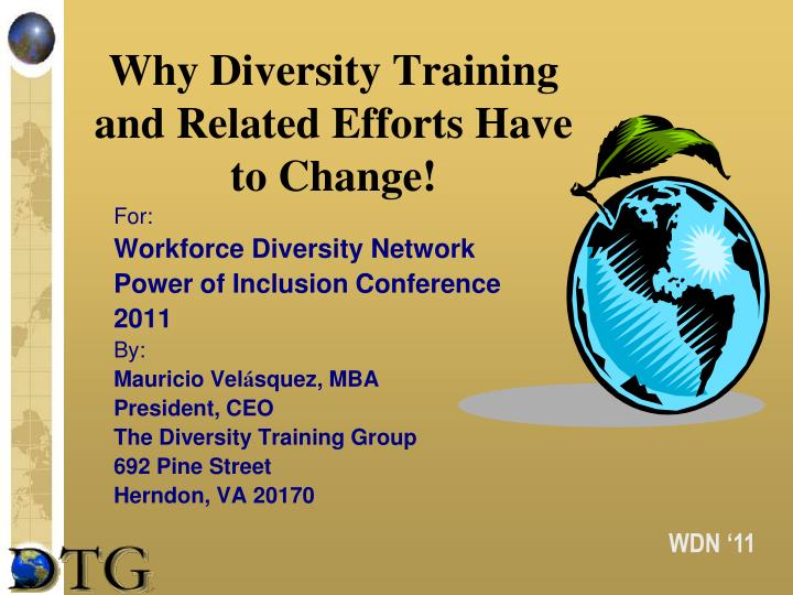why diversity training and related efforts have to change n.