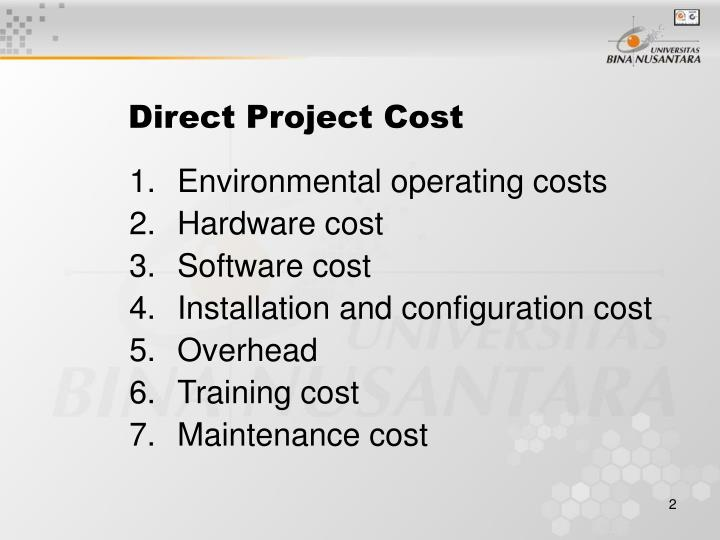 Direct project cost