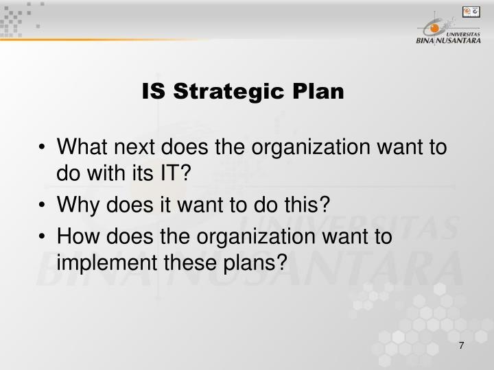 IS Strategic Plan