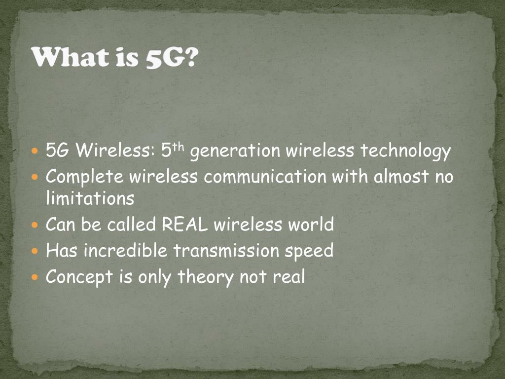 PPT - 5G Wireless Technology PowerPoint Presentation - ID