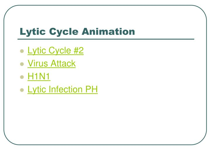 Lytic Cycle Animation